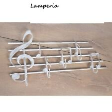 Guardaroba Gancio da Parete Artigianale Metallo Appendiabiti Note Musica