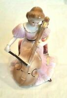 """Josef Originals Woman Playing Cello Porcelain Figurine 5"""" See Notes"""