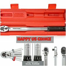 Steel 24330 3/8-Inch Drive Click Torque Wrench Case Snap Tool Socket TEKTON New