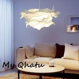 "NEW IKEA KRUSNING 33"" Pendant Lamp Shade Cozy Cloud Lampshade White"