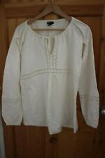 Maternity Shirt Blouse Cream from H & M Mama Size L