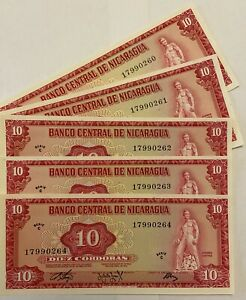 Nicaragua 10 Cordobas 1972 UNC