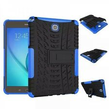 HIBRIDO exteriores Funda Protectora Azul para Samsung Galaxy Tab A 9.7 T550