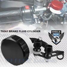BLACK CNC BILLET FRONT BRAKE/CLUTCH TANK FLUID RESERVOIR BOTTLE MASTER CYLINDER