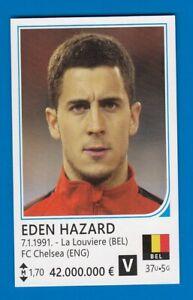 Football card EDEN HAZARD Chelsea Belgium FIFA WC World Cup Brazil 2014