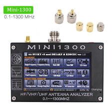 "Mini1300 4.3"" Touch 0.1-1300MHz HF/VHF/UHF ANT SWR Antenna Analyzer Meter Tester"