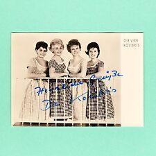 Ansichtskarte Autogramm Die vier Kolibris Quartett signiert Echt Foto DDR