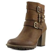 Botas de mujer de tacón alto (más que 7,5 cm) de color principal marrón de lona
