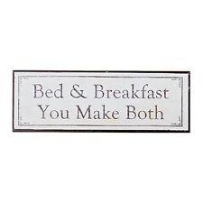 Boltze Blechschild Benice Schild Bed and Breakfast shabby 35 x 12 cm