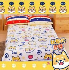 "60X80"" Shiba Inu Muuuuuuco Doge Corgi Bedding Blanket Bed Coral Fleece Quilt New"