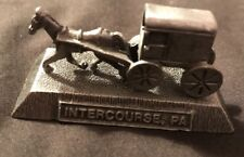 pewter amish horse and buggy Intercourse PA Souvenir Made In USA
