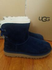 Ugg Dixi Flora Perforated Women's Boots Size 8 Navy