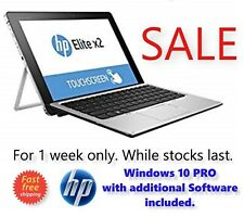"HP Elite x2 1012 256GB SSD 8GB RAM 12"" Touchscreen FullHD Laptop Tablet PC Win10"