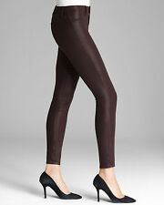 $246 J BRAND 23110 MARIA LACQUERED PINOT COATED HIGHRISE SUPER SKINNY JEANS 31