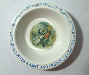 Peter Rabbit and Friends Child's Cereal Bowl Eden Melmac F Warne & Co