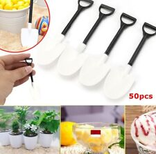 50Pcs Plastic Disposable Mini Shovel Spoon Potted Cake Ice Cream Dessert Spoon