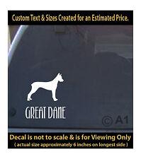 great dane dog 6 inch decal pet lover man best friend car laptop more swp1_51
