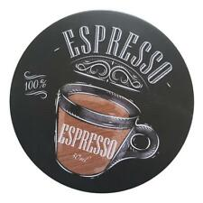100% Espresso Advertising Board Plate Metal Round Tin Sign Wall Decor Plaque
