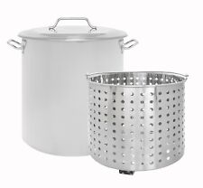 CONCORD Stainless Steel Stock Pot w/ Steamer Basket Boiling Steaming Cookware