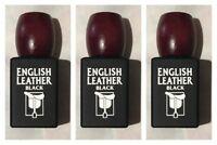3 English Leather Black for Men by Dana Cologne Spray 3.4 oz Ea. NEW Rare No Box