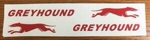 Greyhound Coaster Wagon Pull Toy Replacement Stickers    WA-006