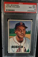 1951 Bowman - Clyde Vollmer - #91 - PSA 8 - NM-MT