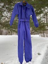 Vtg NOS FERA One Piece Purple SKI SUIT Snow Bib RETRO Snowsuit Womens Size 12