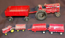 Vintage ERTL International Harvester 656 Farmall Red Tractor & Wagon + Tootsies