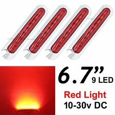 "4X 6.7"" Red 9 SMD LED Side Marker Tail Light Clearance Car Truck Trailer 12V 24V"