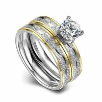Jewelry Lady Women Gift Fashion Wedding Silver Plated Crystal Engagement Ring