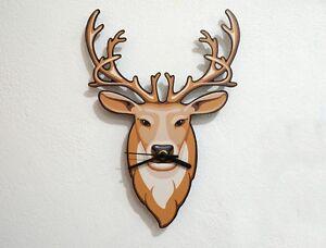 Hipster Brown Deer - Wall Clock