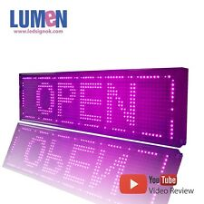 """8"""" X 27"""" Pink Indoor Programmable LED Scrolling Sign Moving Message Window P10"""