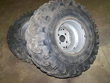 polaris 400 400l rear back wheels tires rims xplorer sportsman 350l 300 4x4 350