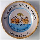 Piatto Buon Ricordo - Certosa di Pavia - Vecchio Mulino - Rigatoni - 11G