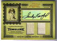 SANDY KOUFAX 05 PRIME CUTS AUTO GAME USED JERSEY # 2/5