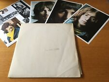 BEATLES - WHITE ALBUM - FRENCH STEREO DOUBLE LP WITH 3 PRINTS & POSTER VG/VG+