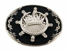 Crown Belt Buckle Royal Spinners Youth Mens Metal Western Cowboy Rodeo Fashion