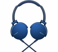 Sony MDRXB550AP Extra Bass Headphones with in-line mic - BLUE