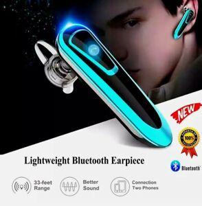 Headphone Single Explorer Bluetooth Wireless HD Voice Headset Black and White US