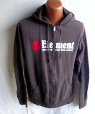 ELEMENT - Adult Brown Hoodie Sweatshirt Jacket - SIZE L