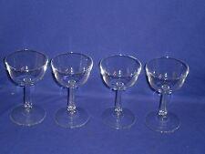 Vintage Stemware Plain No Pattern Sherbet/Champagne 3 Glass Lot 5 inches tall