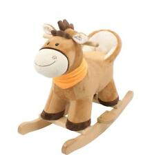 Cavallo a dondolo in legno Peluche gioco per bambini cavalluccio marroncino 3+
