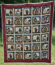 Quilted country bear throw 51x59""