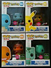 FUNKO POP! Pokemon Flocked Exclusive SET OF 4 Charmander Bulbasaur ect. IN HAND