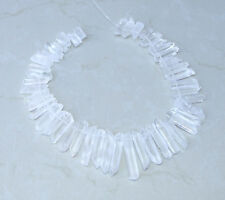 Clear Quartz Points Crystal Points Strand Raw Pendant Beads Healing 20mm - 43+mm