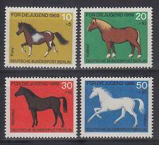 Germany Berlin 1968 ** Mi.326/29 Tiere Animals | Pferde Horses