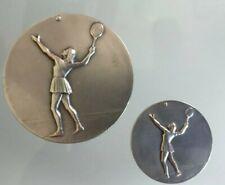 2 Médailles sport Charma Ed Valence signé contaux tennis,charm.ancienne.