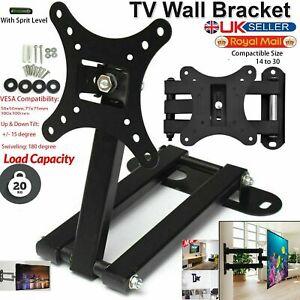 TV Wall Mount Bracket Tilt Swivel For 14 20 23 25 28 30 Inch LCD LED Plasma UK