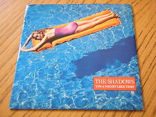"""THE SHADOWS - ON A NIGHT LIKE THIS   7"""" VINYL PS"""