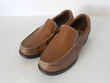 Men's Dr. Scholl's Loafers, Brown Leather, 9.5D, Medium, Pebble Finish